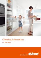 Pliant Sisteme de ridicare pentru u�i Informa�ii pentru cur��are (FO-013)