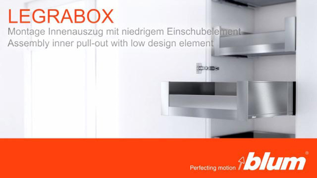 LEGRABOX assembly video for inner pull-out with design element