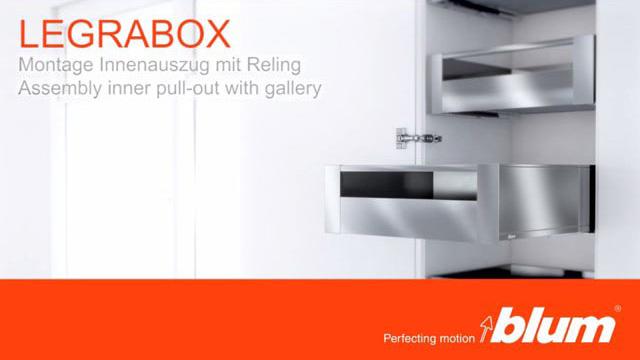 Film o montażu wysokiej szuflady wewnętrznej LEGRABOX z relingiem