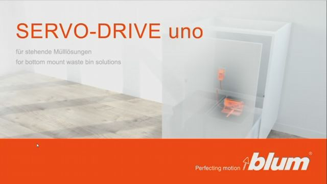 SERVO-DRIVE uno for bottom mount waste bin solutions