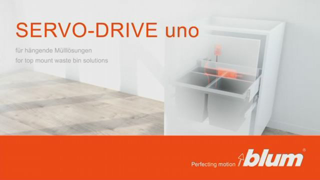 SERVO-DRIVE uno for top mount waste bin solutions