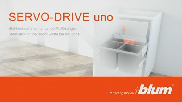 SERVO-DRIVE uno for top mount waste bin solutions – back