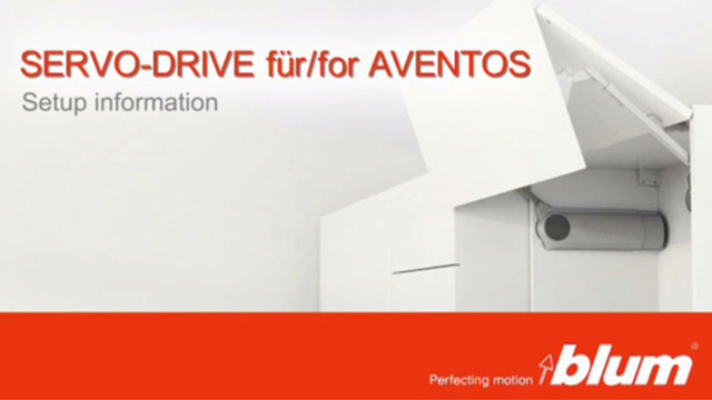 SERVO-DRIVE for AVENTOS – Setup information