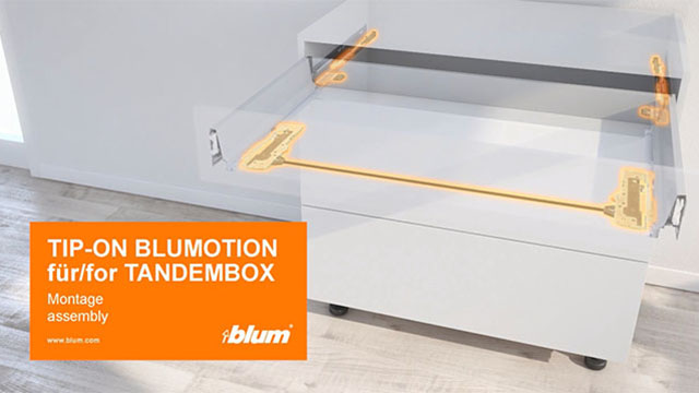 TIP-ON BLUMOTION, skirtas TANDEMBOX